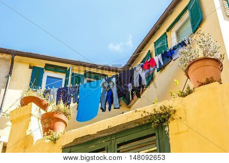 Clothes Hanging Out Italian Windows