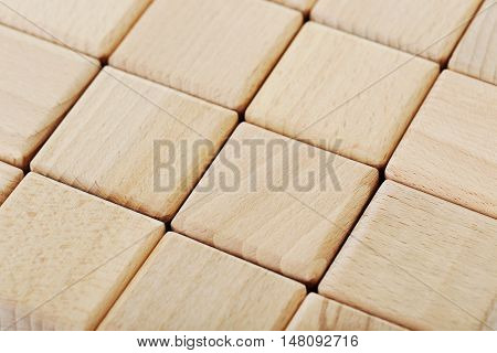 The Wooden Toy Cubes Background, Close Up