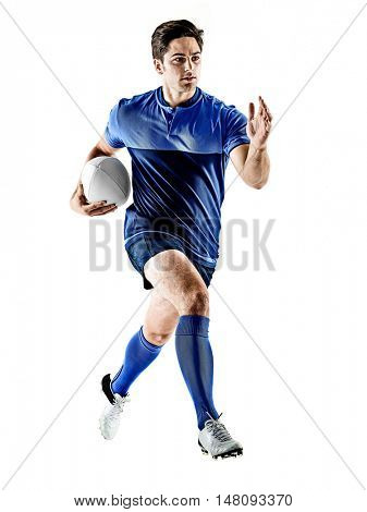 rugby player man isolated