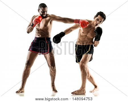 kickboxing kickboxer boxing men isolated