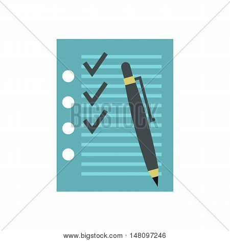 To do list icon in flat style on a white background vector illustration
