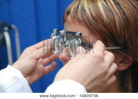 patient at oculist