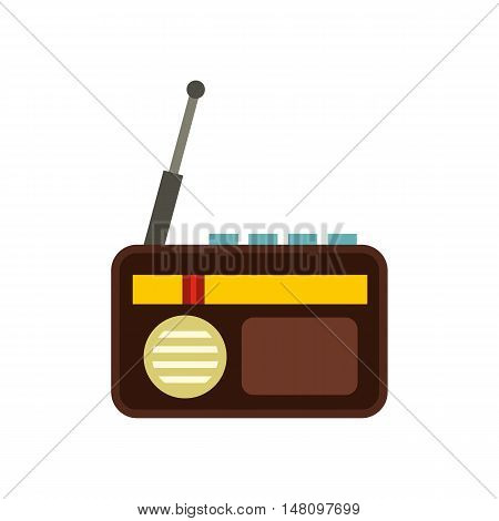 Retro radio icon in flat style on a white background vector illustration
