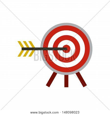 Target icon in flat style on a white background vector illustration