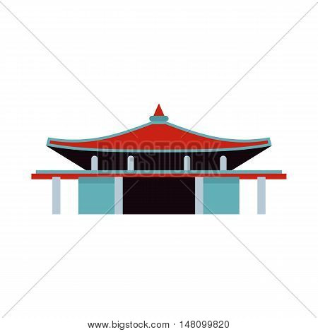 Pagoda icon in flat style on a white background vector illustration