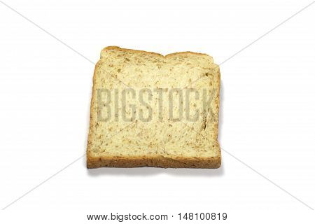 Square Slice Of Fresh Whole Grain Meal Bread. Detailed Bread Texture
