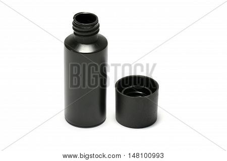 Plastic Bottle Of Body Care And Beauty Products / Studio Photography Of Plastic Bottle For Shampoo -