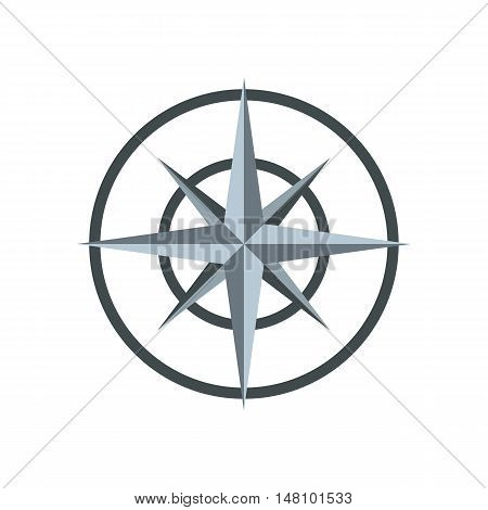 Ancient compass icon in flat style on a white background vector illustration