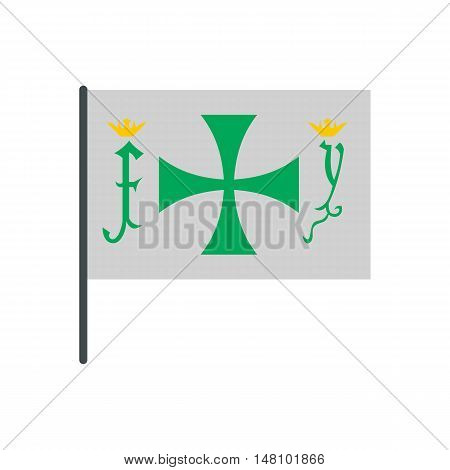 Flag of Christopher Columbus icon in flat style on a white background vector illustration