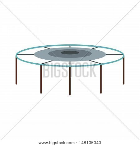 Trampoline jumping icon in flat style on a white background vector illustration