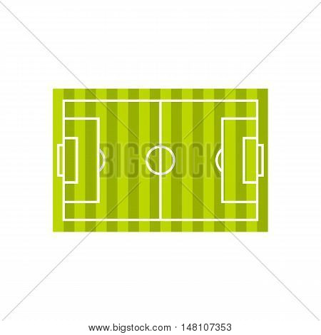 Soccer field icon in flat style on a white background vector illustration
