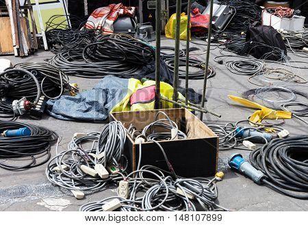 electrical equipment on a city street