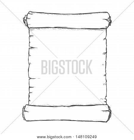 Vector Single Sketch Scroll