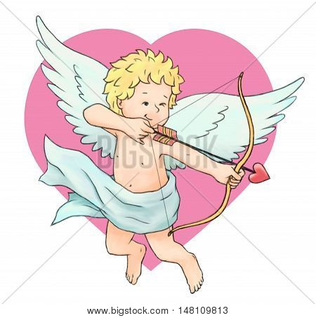 Cupid's Arrow angel love concepts celebration event romance flying arrow