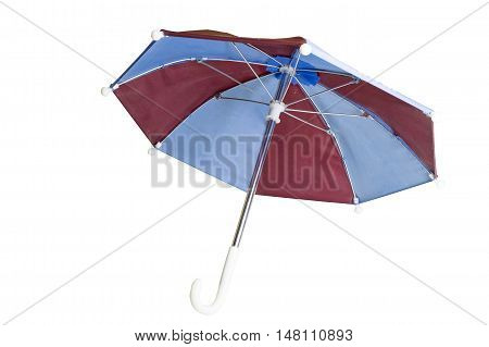 beautiful colored umbrella, no background. Red and blue