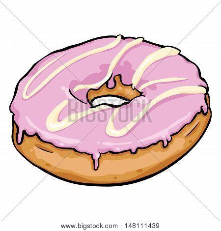 Vector Single Cartoon Doughnut