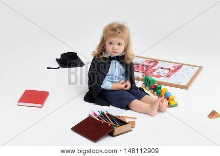 Little Boy Child In Mantle