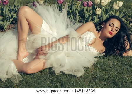 Sensual Bride In Sexy Dress