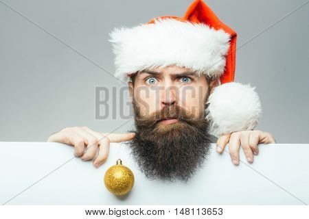 Christmas Man With Paper Sheet