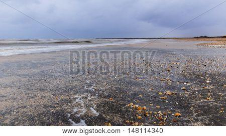 The coast of the Caspian Sea.Nabran Azerbaijan