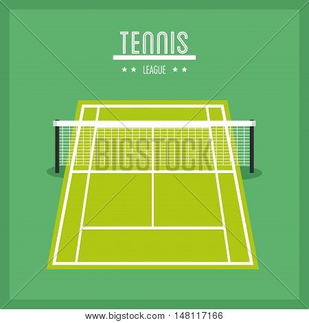 League icon. Tennis sport and hobby theme. Colorful design. Vector illustration