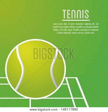 Ball and league icon. Tennis sport and hobby theme. Colorful design. Vector illustration