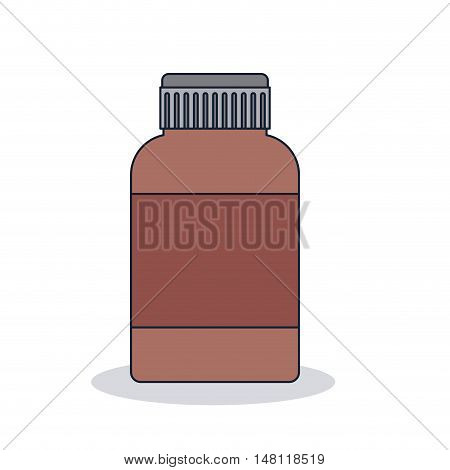 medicine jar icon. Medical and health care theme. Colorful design. Vector illustration