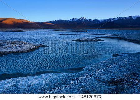 Tso Kar Salt Water Lake In Ladakh, India
