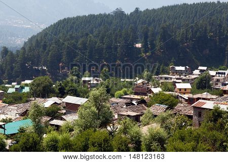 Old Manali Village In Kullu Valley, India.