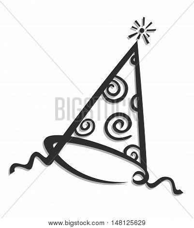 Birthday cap vector illustration isolated on white background