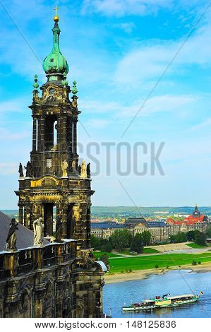 The Kreuzkirche Church. Dresden, Germany