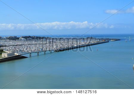 Marina La Rochelle, the French city and seaport located on the Bay of Biscay, a part of the Atlantic Ocean