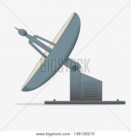 satellite dish. a radio telescope. icon isolated on white background