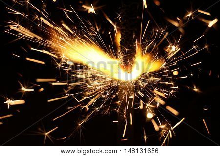 Bright and cheerful Christmas Sparkler with cool sparks