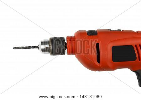 close up drill on white included clipping path