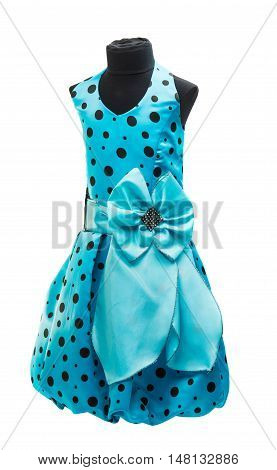 blue baby dress on a white background