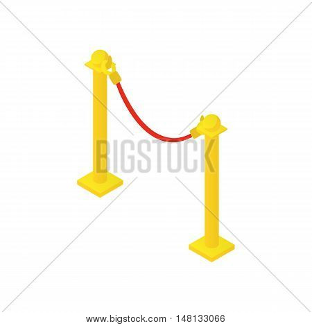 Rope barrier icon in cartoon style isolated on white background vector illustration
