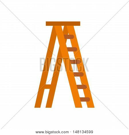 Ladder icon in flat style isolated on white background. Equipment symbol vector illustration