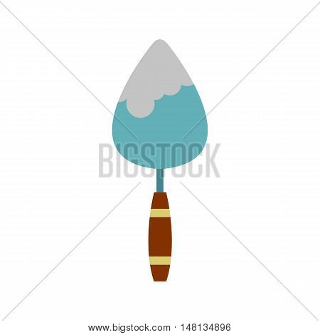 Trowel icon in flat style isolated on white background. Repair symbol vector illustration