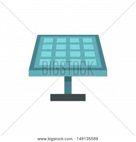 Solar battery icon in flat style isolated on white background. Innovation symbol vector illustration