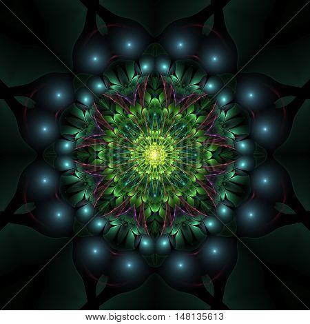 Abstract Floral Mandala