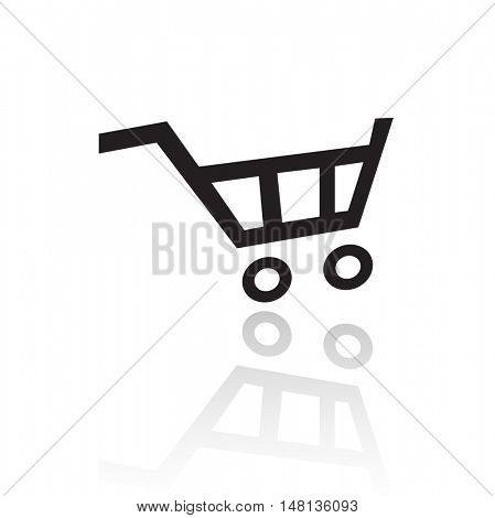 Black cart isolated on white