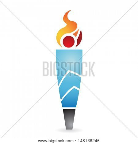 ancient torch isolated on white