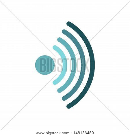 Distribution of Wi-fi icon in flat style isolated on white background. Network symbol vector illustration