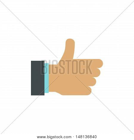 Gesture approval icon in flat style isolated on white background. Gestural symbol vector illustration