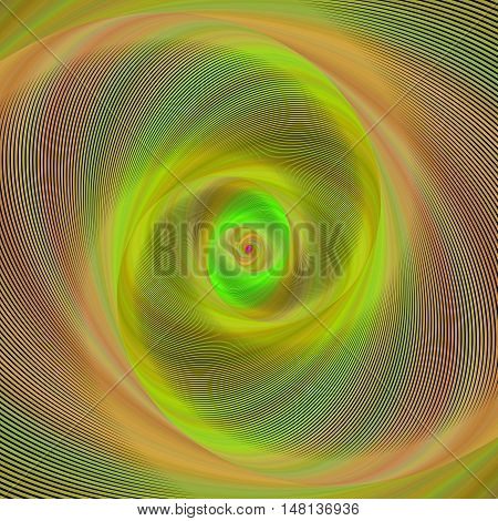 Abstract computer generated spiral fractal background vector