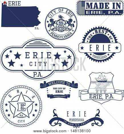 Erie City, Pa, Generic Stamps And Signs