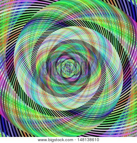 Colorful abstract computer generated spiral fractal background vector