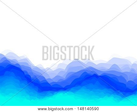 Abstract layered wave background. Vector colorful illustration.