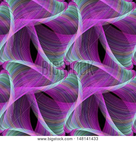 Magenta repeating computer generated fractal design pattern background
